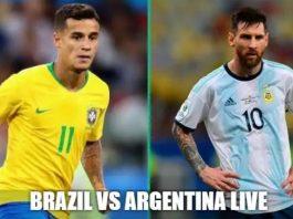 Argentina vs Brazil match Live 2019