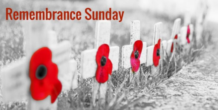 today is Remembrance Sunday 2019