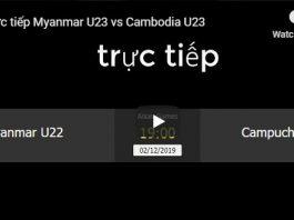Myanmar U23 VS Cambodia U23